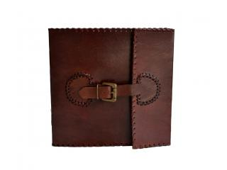 Handmade Leather Journal Dairy With 120 Cotton Paper Pages And Brass Buckle